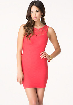 bebe Emma Lace Yoke Tank Dress