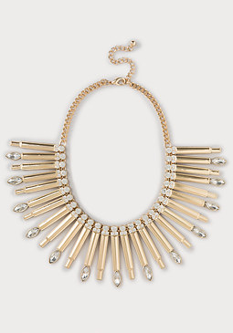 bebe Metal Bar Necklace