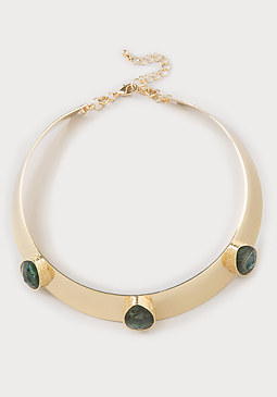 bebe 3-Stone Collar Necklace