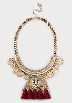 bebe Coin & Tassel Necklace