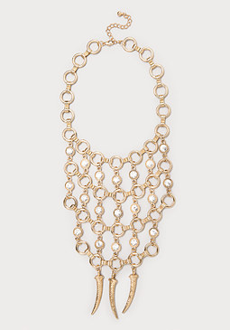 bebe Circle Link Bib Necklace
