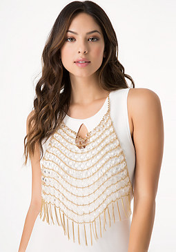 bebe Bead & Fringe Body Jewelry