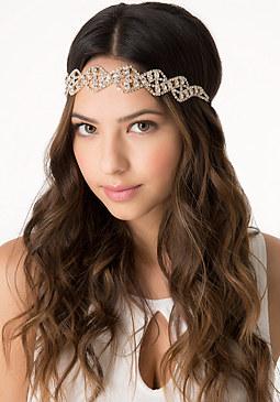 bebe Crystal Swirl Headpiece