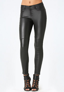 Strutter Leather Jeans at bebe