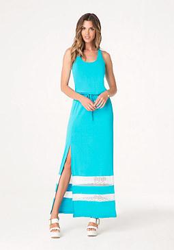 bebe Petite Strappy Maxi Dress