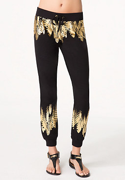 bebe Petite Feather Malibu Pants