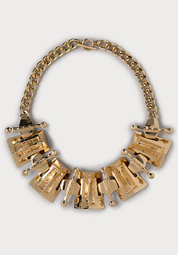 bebe Textured Pyramid Necklace