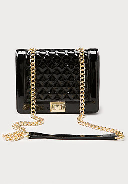 bebe Ava Quilted Crossbody Bag