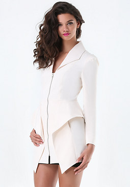bebe Geo Peplum Trench Coat