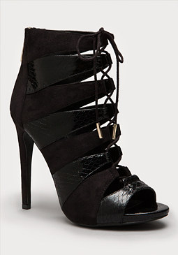 bebe Tillan Lace Up Booties
