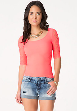 bebe Side Slash Top