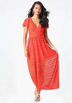bebe Tanya Knit Maxi Dress