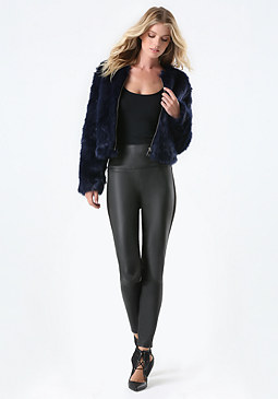 bebe Faux Fur Evening Jacket