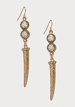 bebe Crystal & Horn Earrings