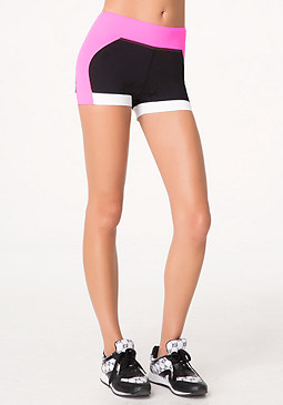 bebe Colorblock Shorts