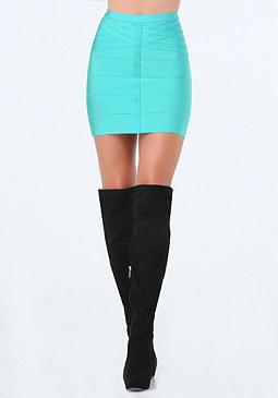 bebe Basket Weave Bandage Skirt