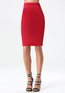 bebe Tiana Detailed Pencil Skirt