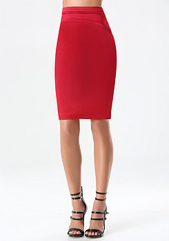bebe Tiana Detailed Pencil Skirt