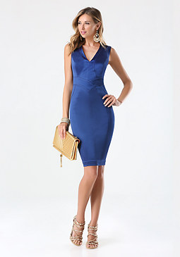 bebe Tiana Paneled Dress