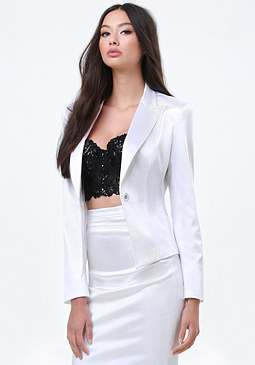 bebe Tiana Single Button Jacket