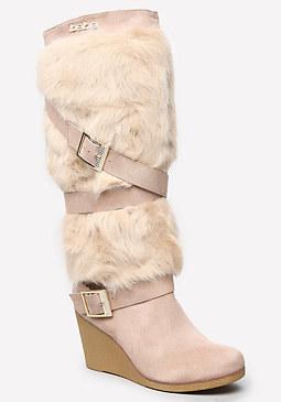 bebe Geenna Faux Fur Boots