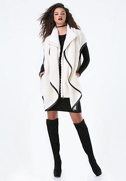 bebe Cocoon Sweater Coat
