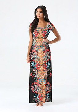 bebe Petite Tall Tale Maxi Dress