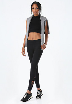 bebe Crisscross Ankle Leggings