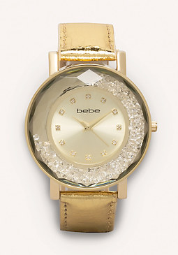 bebe Floating Crystal Watch