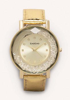 bebe Floating Crystal Watch