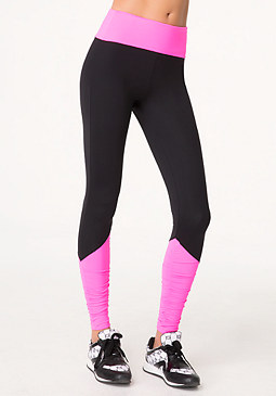 bebe Angled Colorblock Leggings