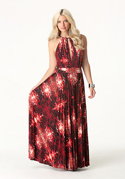 bebe Deep Neck Gown