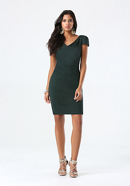 bebe Petite Cowl Neck Dress