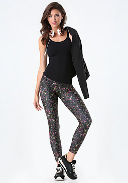bebe Speckle Leggings