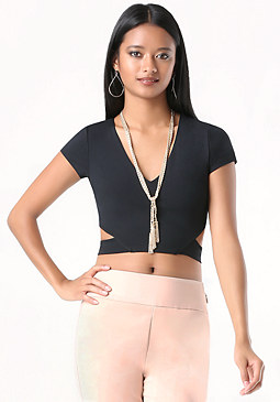 bebe Cutout Crop Top