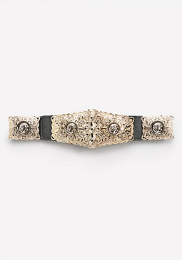 bebe Coin Plate Stretch Belt