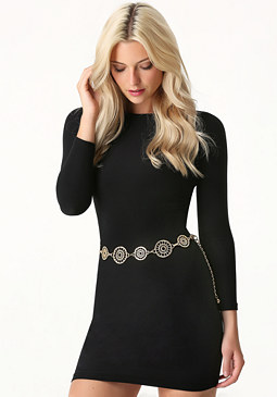 bebe Circle Web Chain Belt