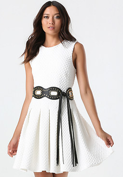 Eyelet, Stud & Fringe Belt at bebe