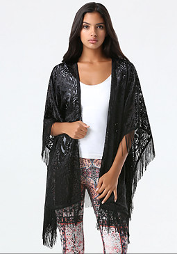 bebe Velvet Burnout Cover Up