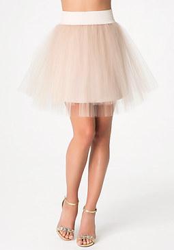 bebe Tulle Miniskirt