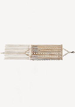 bebe Crystal & Chain Bracelet