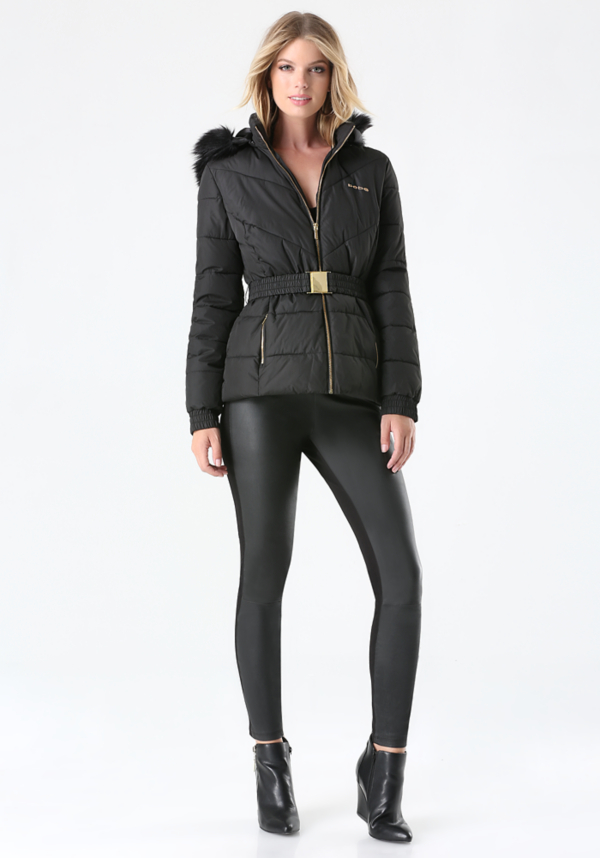 Logo Puffer Jacket at bebe in Sherman Oaks, CA | Tuggl