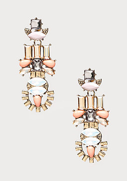 bebe Mix Crystal Linear Earrings