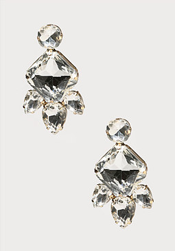 bebe Crystal Girandole Earrings