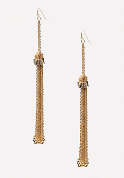 bebe Chain Tassel Earrings