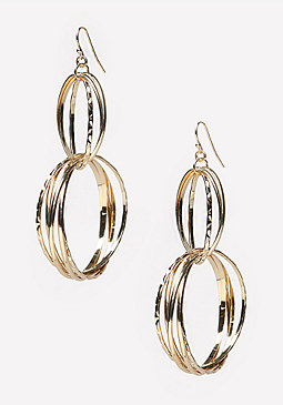 bebe Multi-Circle Earrings