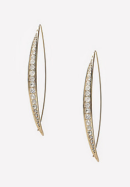 bebe Crystal Lined Earrings
