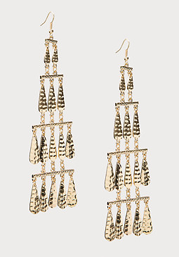 bebe Tiered Metal Drop Earrings