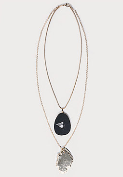 bebe Layered Pendant Necklace