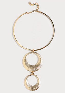 bebe 2-Circle Collar Necklace
